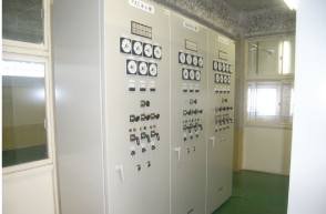 Sterilization equipment control panel, Miyahara Sewage Treatment Plant (Kure City)