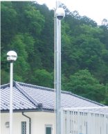 Web camera monitoring equipment at a sewage treatment plant (Miyoshi City)