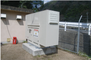 Emergency generator, Sakugicho Sewage Treatment Plant (Miyoshi City)